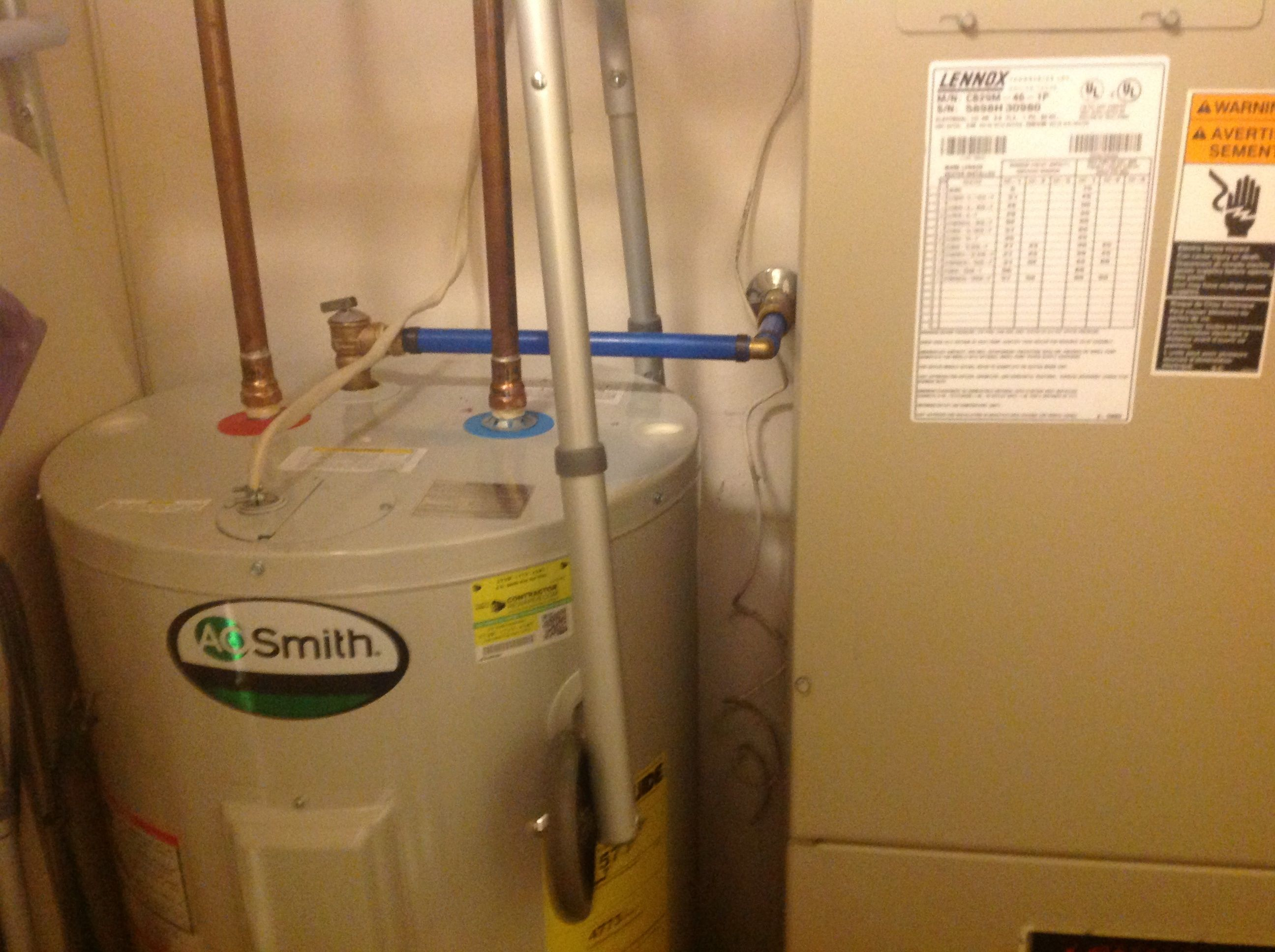 Hot Water Heater B4 Calling Plumber Take The Upper Panel That