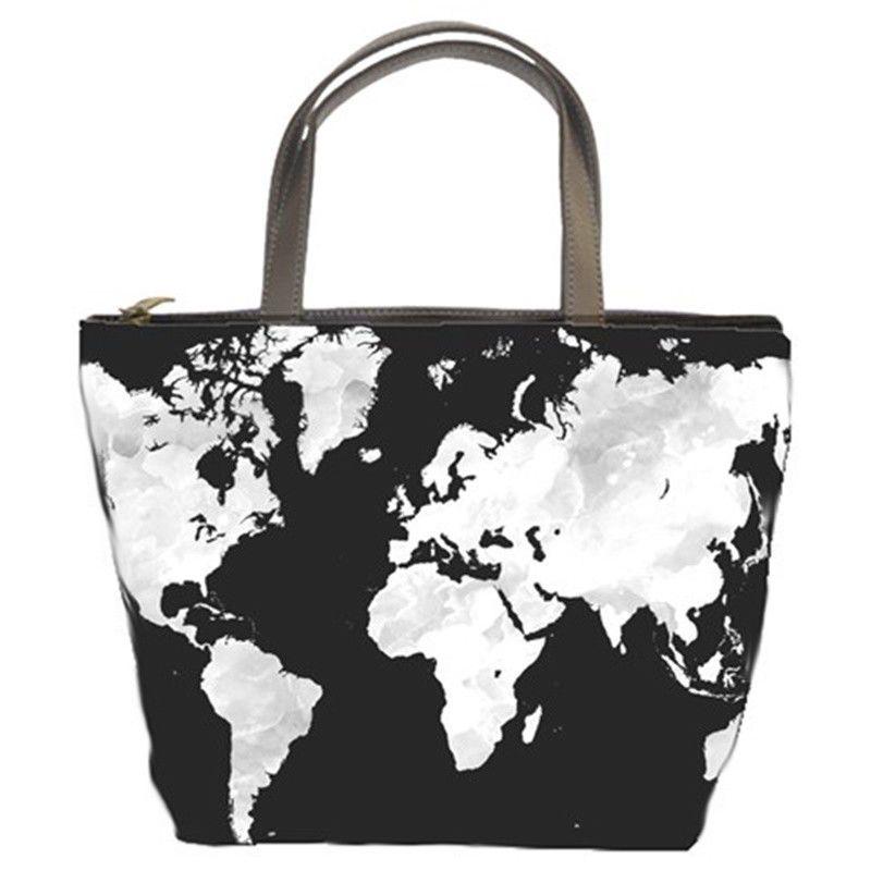 Bag purse bucket bag accessory design 70 world map black grey gray bag purse bucket bag accessory design 70 world map black grey gray by ldumas gumiabroncs Images