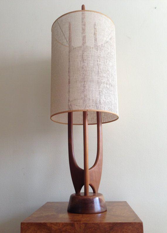 Vintage danish modern sculptural teak rocket table lamp mid vintage danish modern sculptural teak rocket table lamp mid century vh woolums modeline on etsy aloadofball Images