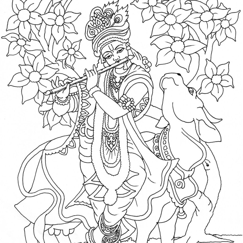 Krishna drawing google search deities pinterest for Coloring pages of krishna