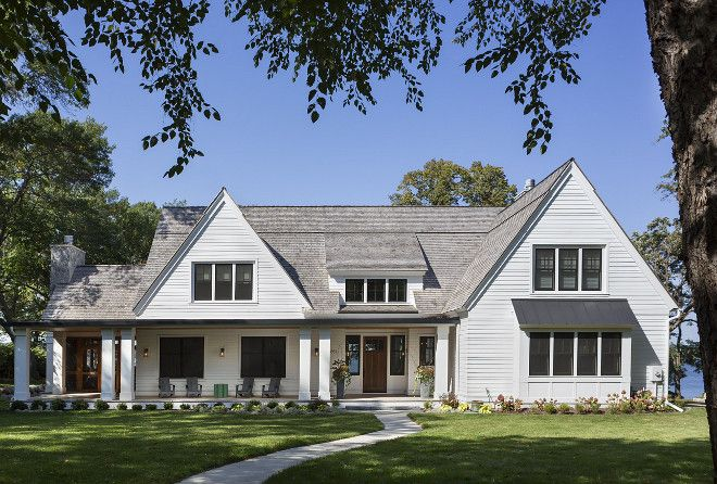 Farmhouse Exteriors white farmhouse exterior paint color. benjamin moore simply white