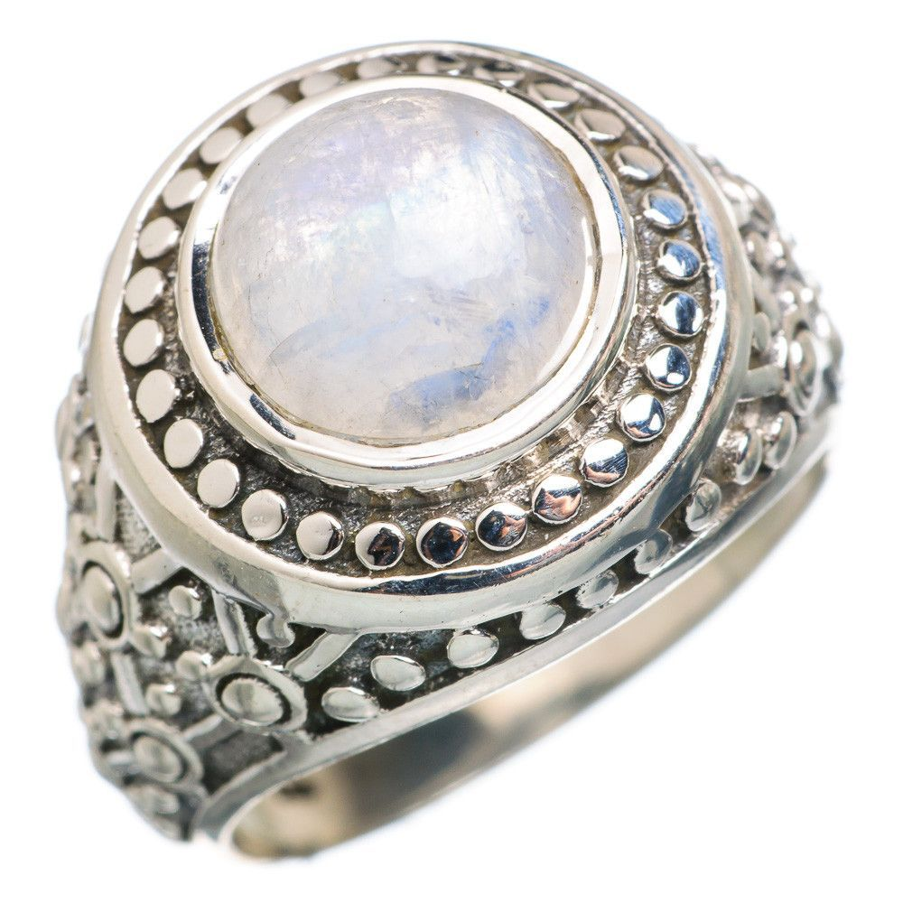 Rainbow Moonstone 925 Sterling Silver Ring Size 9 RING766359