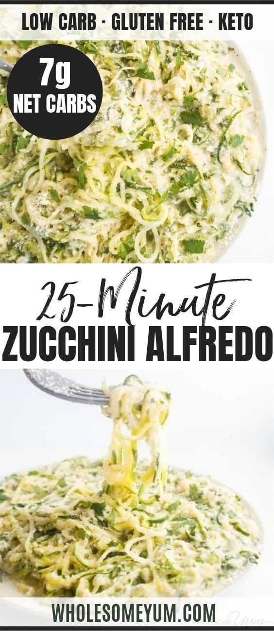 Photo of Zucchini Noodles Recipe with Healthy Alfredo Sauce (Zucchini Alfredo)   Wholesome Yum
