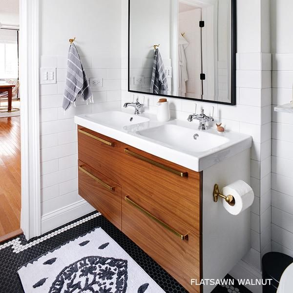 Using Ikea Kitchen Cabinets For Bathroom Vanity: Because Of Ikea's Versatility, We Offer Doors For The
