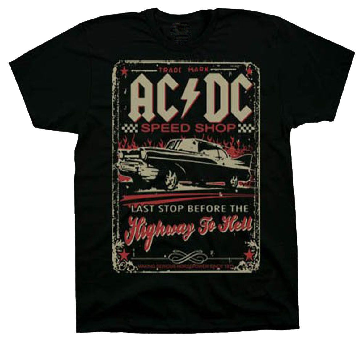 Official Ac Dc Speed Shop Adult T-Shirt - Ac Dc Acdc Rock And Roll ... 4a1d453296ba3