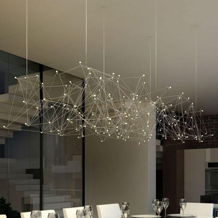 Modern Nickel Ceiling Light In Custom Sizes [18424] In