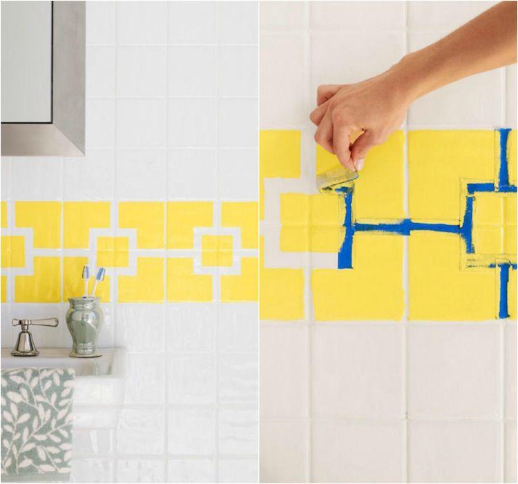 Tout savoir sur la peinture pour carrelage salle de bain -idées et - image carrelage salle de bain