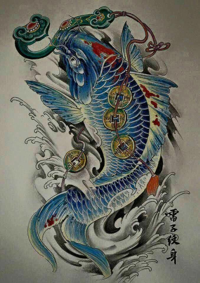 Ca Chep Koi Tattoo Design Japanese Tattoo Art Koi Tattoo