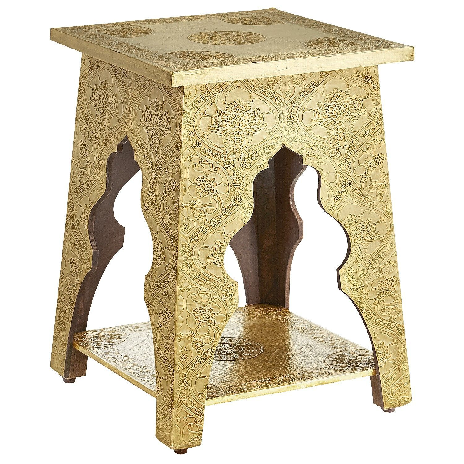 marrakesh accent table brass pier 1 imports living room