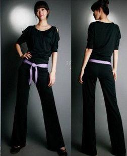 free shipping female yoga clothes set dance clothes yoga