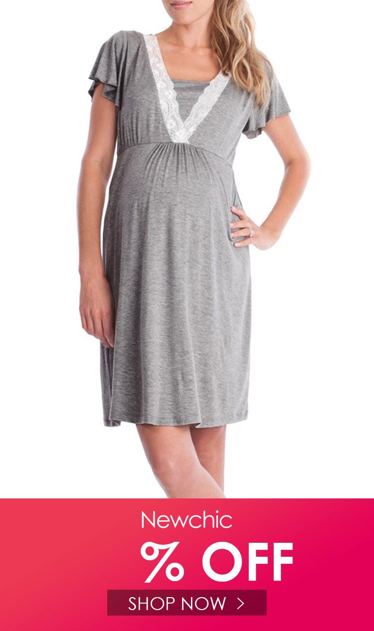 فستان تمريض طويل للأمومة للنساء الحوامل ملابس الحمل ملابس نسائية ملابس منزلية للأم Dress Clothes For Women Maternity Dresses Nursing Dress