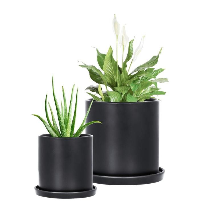 Ceramic plant pots indoor modern planters with drainage
