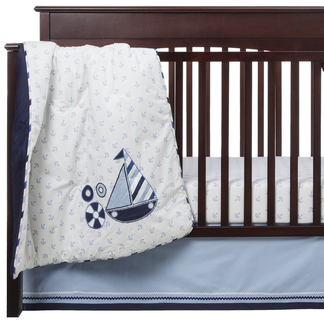 Bacati Crib Bedding Set 10pc Little Sailor Crib Bedding Sets Crib Sets Baby Bedding Sets