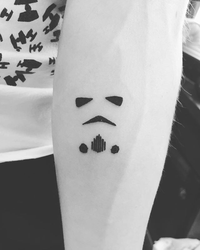 da65be545 The force is strong in this one! #tattoo #starwars #starwarstattoo  ##Stormtrooper #stormtroopertattoo #sdcc