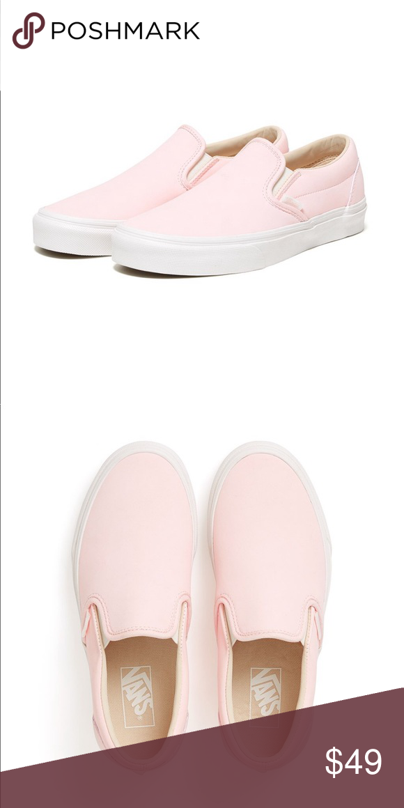 b1f265c4d7b Vans Classic Slip-Ons - Heavenly Pink Leather Only worn a few times and in