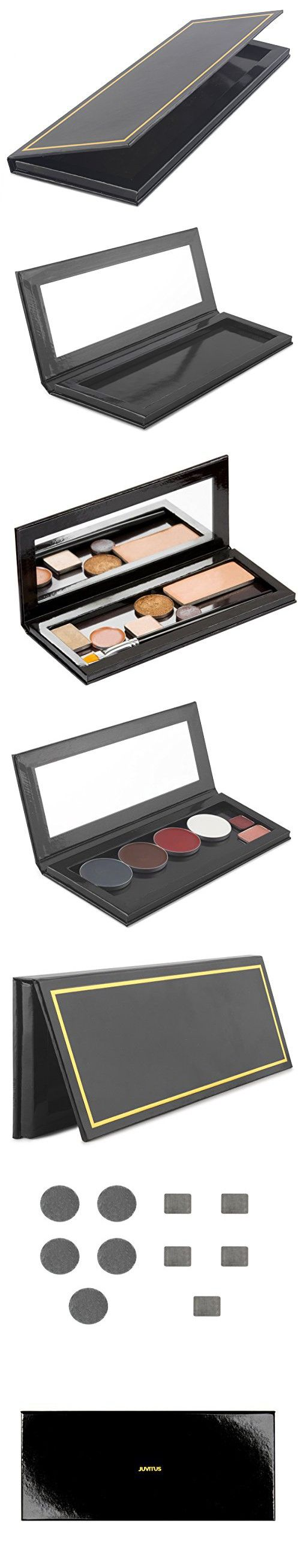 Empty Customizable Makeup Palette with Mirror and