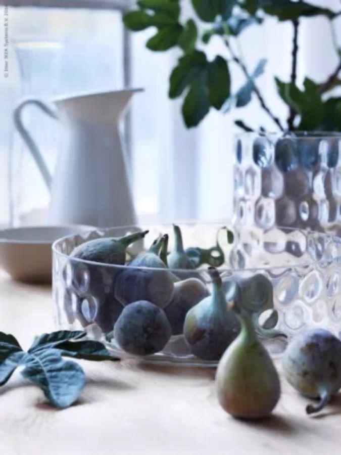 Ikea Glasschale Handmade Mundgeblasen Schale Obstschale ...