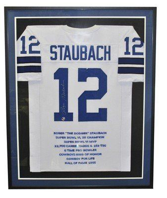 5a0952747c8 Roger Staubach Signed/Autographed Framed Cowboys Jersey PSA/DNA . $799.00. Roger  Staubach