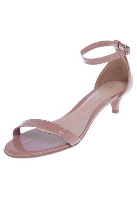 7c49d2f1c Sandália DAFITI SHOES Strap Salto Fino Médio Bege | shoes | Sandália ...