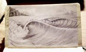 Resultado de imagen para pinturas y dibujos de olas