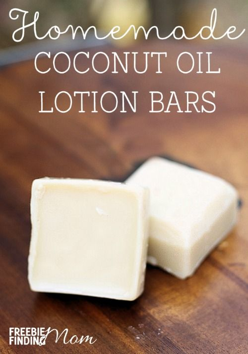 10 Homemade Recipes for Beauty Products: Homemade Coconut Oil Lotion Bars