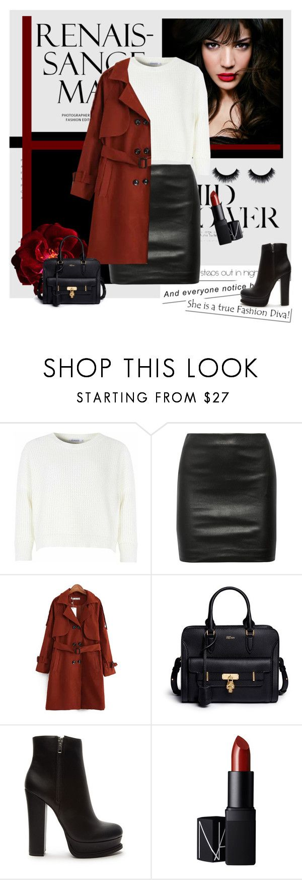 """""""OOTD#6"""" by tjlillian ❤ liked on Polyvore featuring IVI, Glamorous, The Row, Chicnova Fashion, Alexander McQueen, Forever 21, NARS Cosmetics, ootd, Halloweenparty and Halloween2015"""