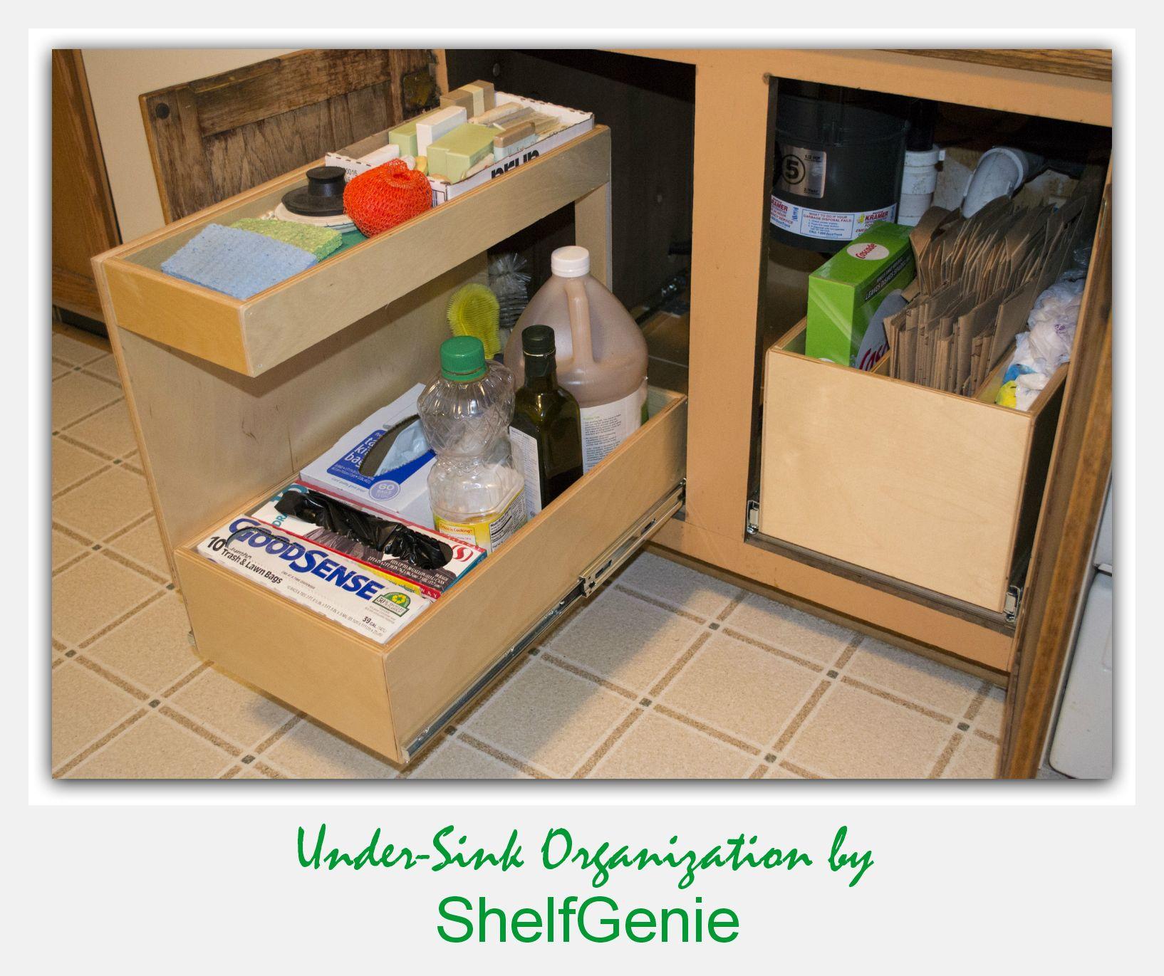 Kitchen Shelves Shelfgenie Of Chicago Kitchen Shelves Organization Kitchen Shelves Kitchen Sink Organization