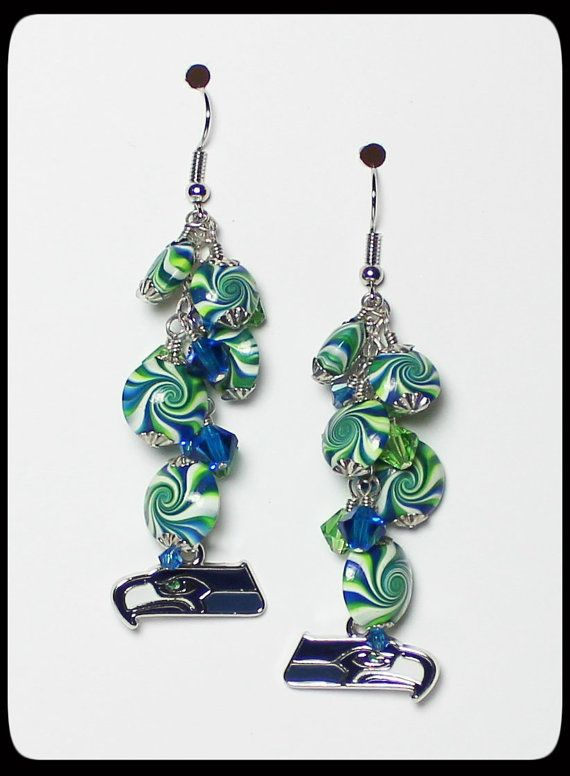 handmade jewelry seattle seattle seahawks handmade jewelry earrings beaded 4411