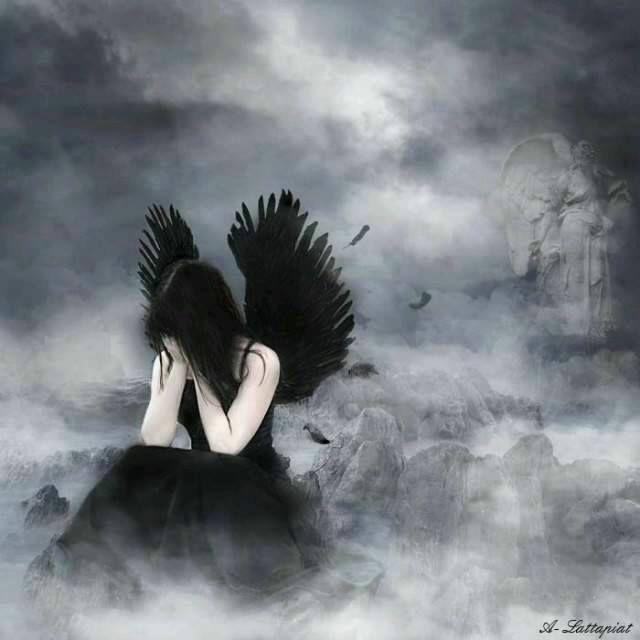 День рождение, картинки грустных ангелов