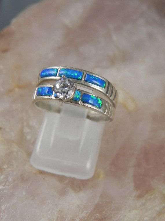 Native American Opal Wedding Ring Set By Hollywoodrings On Etsy 10000 Love The