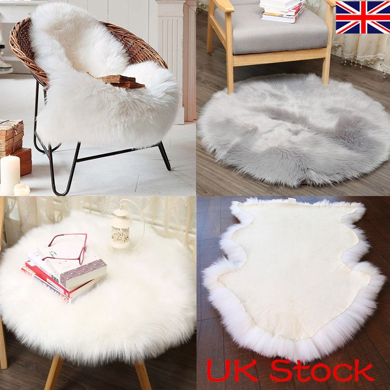 Details about Extra Soft Fluffy Plain Bedroom Faux Fur
