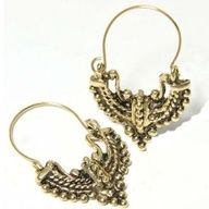 SG Paris Fish Hook Antic Gold Dore Earrings French Clip Metal Winter Women Ethno Glam Fashion Jewelry / Hair Accessories Z Others $4.99