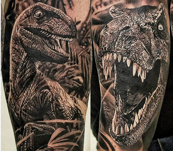 tuesday exclusive 20 of the coolest velociraptor tattoos vol 1 tattoo tatoos and dinosaur. Black Bedroom Furniture Sets. Home Design Ideas