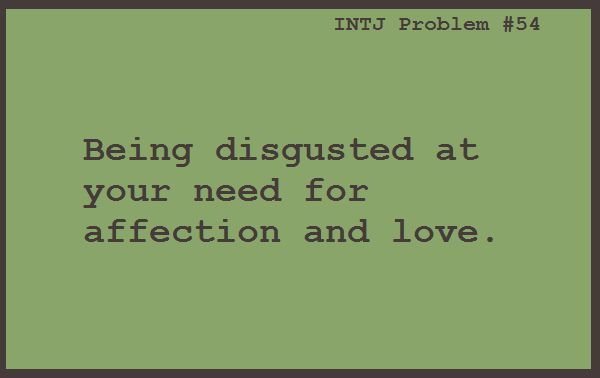 """Not necessarily """"disgusted"""", but it would be easier if I didn't have a desire for a relationship."""