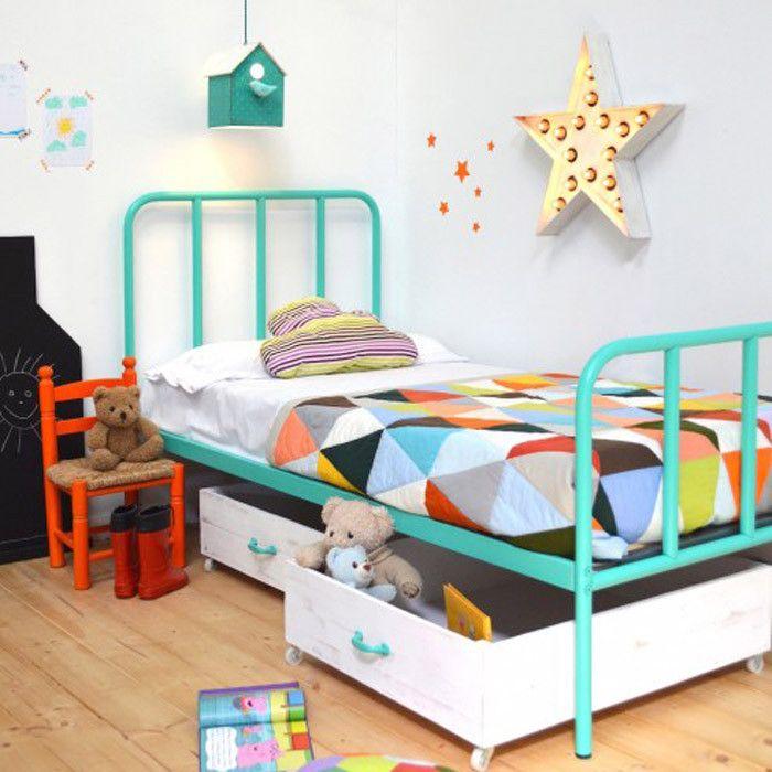 camita de hierro para niños deco Pinterest Hierro, Camas y