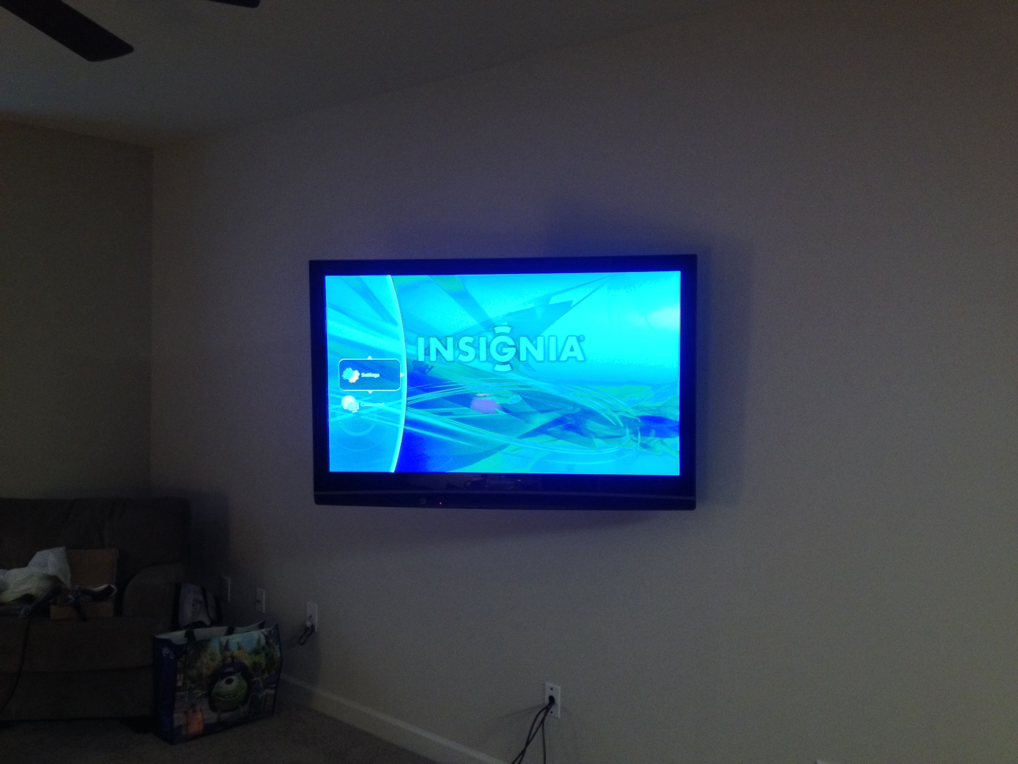 Charlotte Home Theater Installation. Projector, screen, sound bar ...
