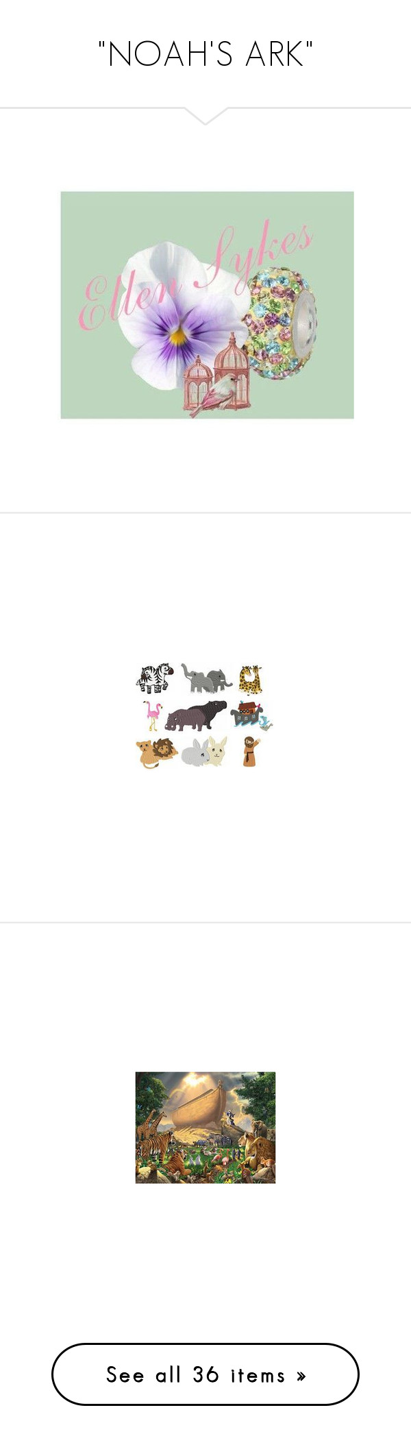 """""""NOAH'S ARK"""" by lnotb71 ❤ liked on Polyvore featuring art"""