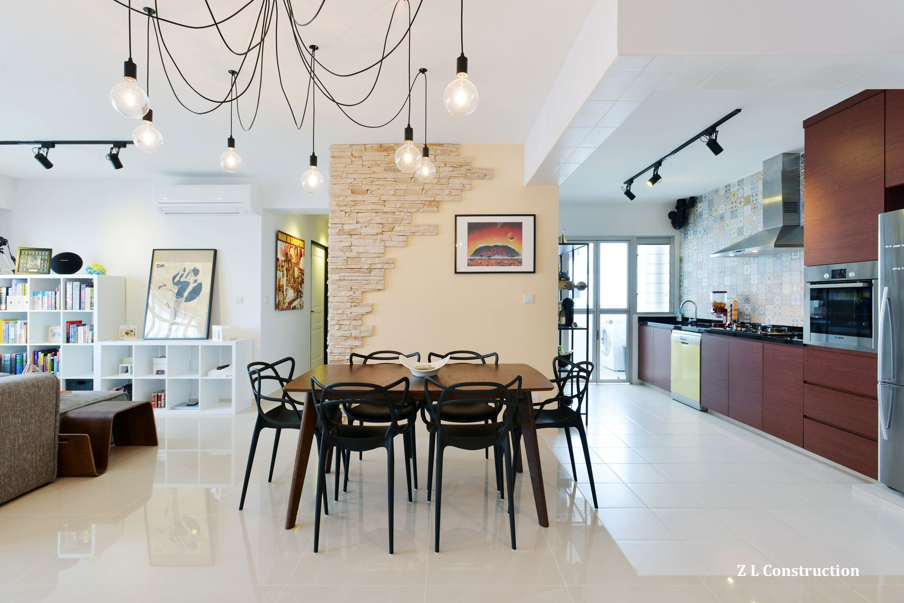 Z L Construction Singapore Craftstone Wall Deliberately Left