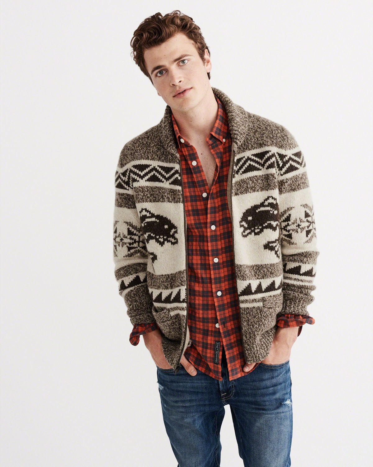 Mens Cardigan Sweaters | Abercrombie & Fitch | Fall 2016 | Pinterest