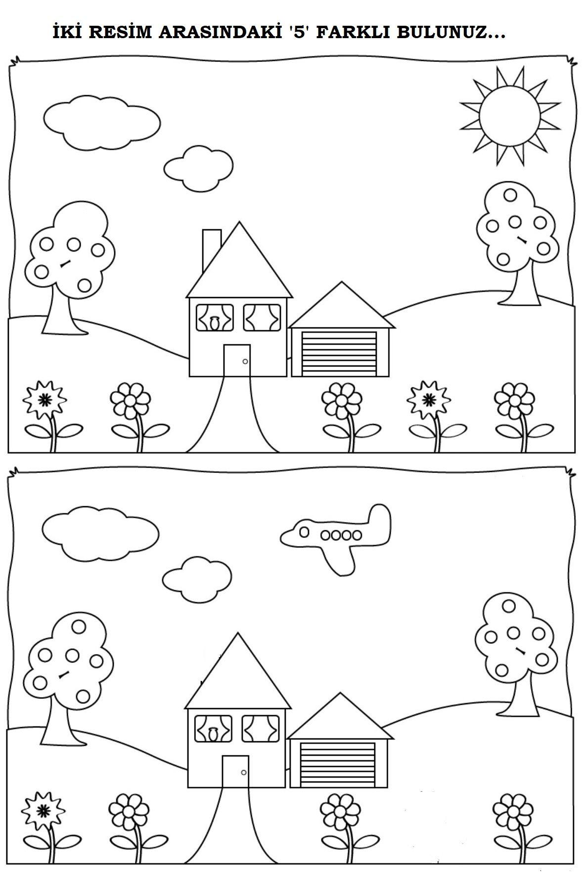 Okul Oncesi 2 Resio Arasindaki Farki Bulma Okul Oncesi Okul