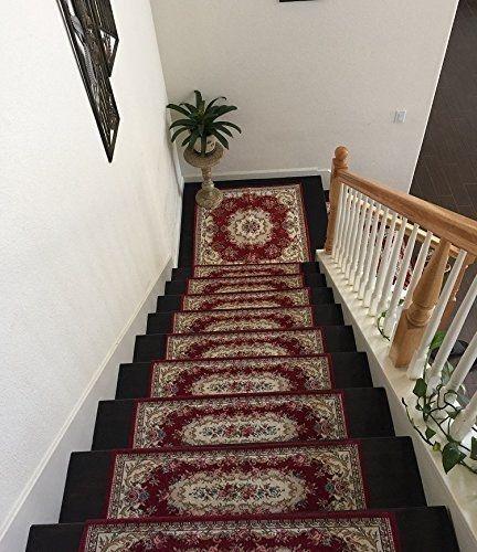 Acrylic Non Slip Stair Runner Rug Stair Treads Carpet Door Mat  Custom Size Set