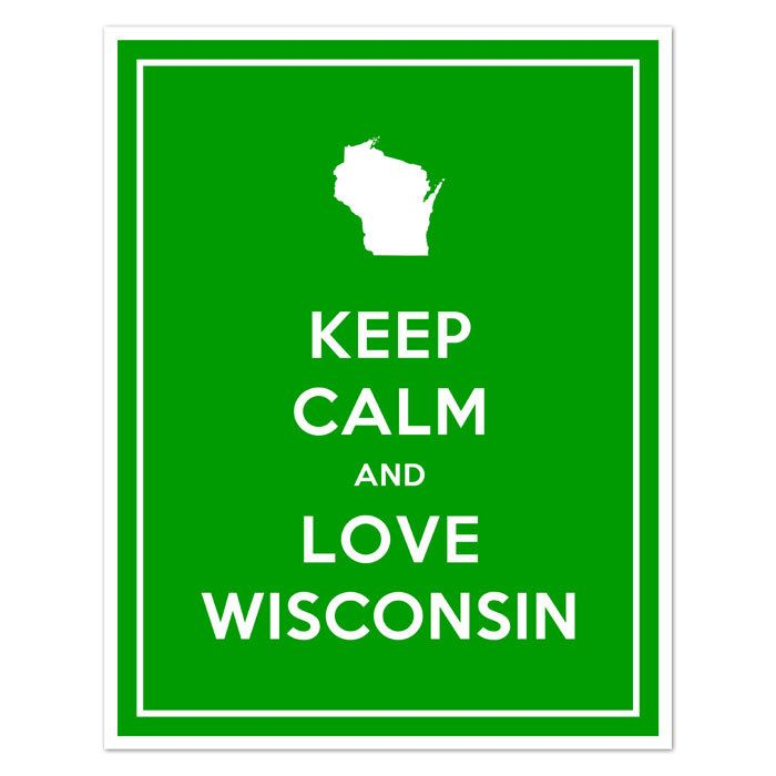 Keep Calm and LOVE WISCONSIN - Etsy