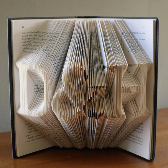 Best Paper Gifts For First Anniversary Part - 44: First Anniversary Gift For Boyfriend / Husband - Paper Anniversary Folded  Book Art Gift - Gift