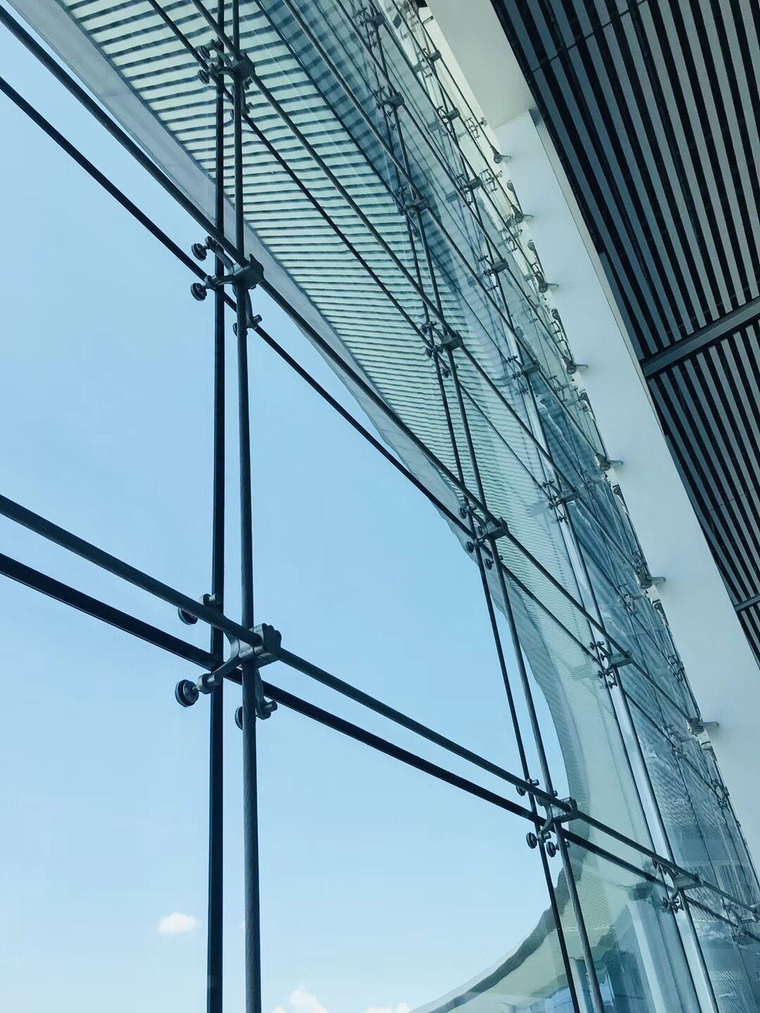 structural glass curtain wall with spiders on curtain wall id=39439