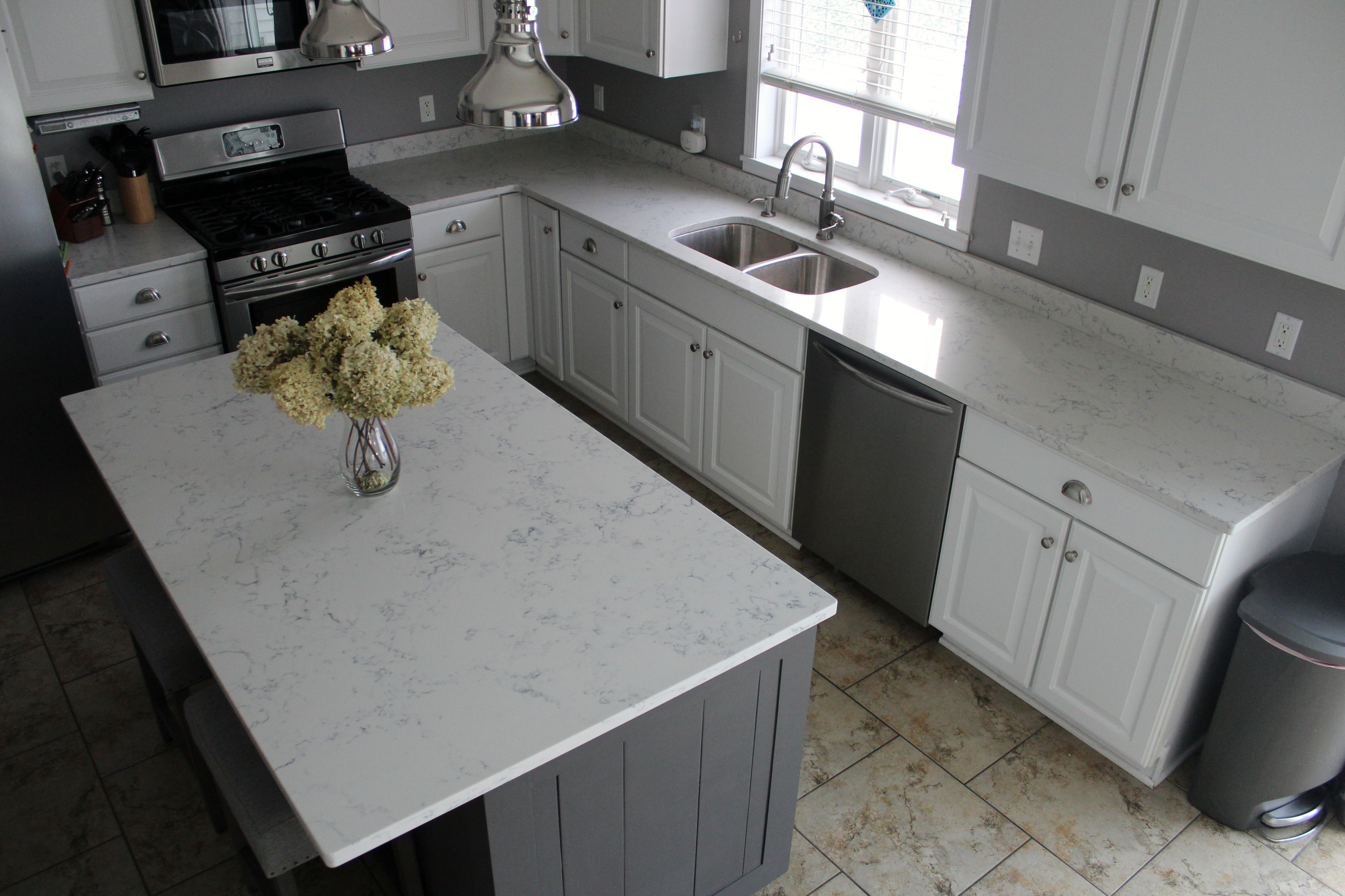 Amazing Carrara White Quartz By Aggranite; 502A Sink By Midwest/Aggranite.