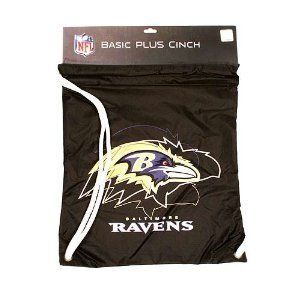 Baltimore Ravens Drawstring Cinch Sack Backpack by Little Earth. $11.50. This nylon cinch sack is perfect for school or the gym! It is water resistant and has reinforced corners. It is screen printed in your team's colors. Also makes a great gift!