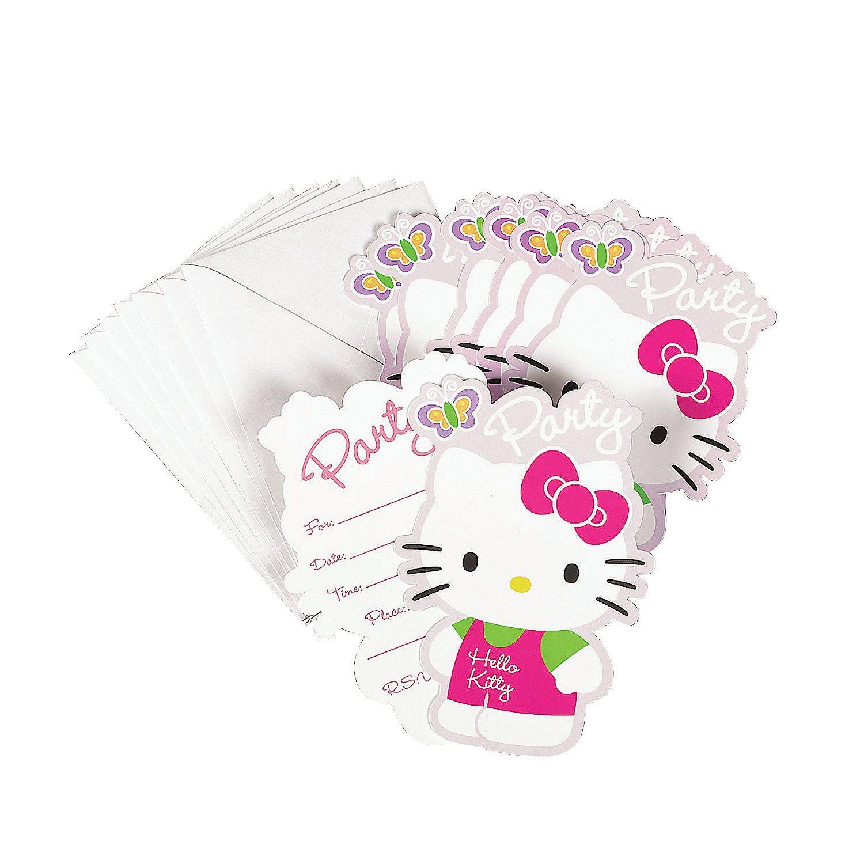 Hello Kitty Flower Fun Invitations