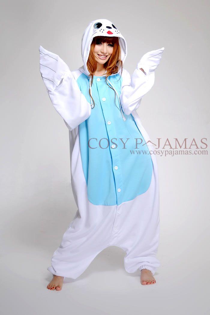 812b3d9f81c3d Seal Onesie Kigurumi Pajamas
