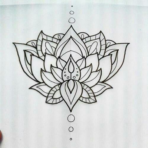 Lotus Outline Tattoo Ideas Lotus Flower Tattoo Design Flower