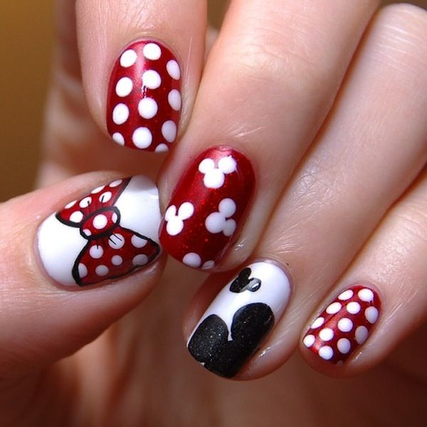 nail art mickey mouse | Fandom Nails | Pinterest | Uñas esculpidas ...